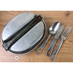Original US WWII mess kit with utensils dated 1944