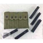 Original Thompson WWII Pouch with Five 20 Round Seymour Products Magazines