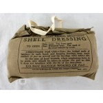 Original British WWII Large Wound Shell Dressing Bandage- Dated 1944.