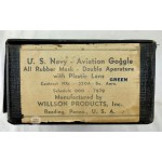 Original WW2 U. S. Navy - Aviation Goggles case made by Willson Products Inc