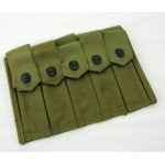 Original U.S. WWII Thompson Five Cell 20 Round Magazine Pouch E-36
