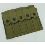 Original U.S. WWII Thompson Five Cell 20 Round Magazine Pouch E-60