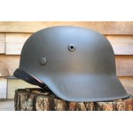 HELM-12 Restored Original WW2 German M 42 ND size 68 helmet